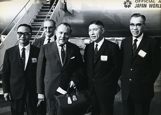 Hon. Robert Muldoon arriving in China, 1970