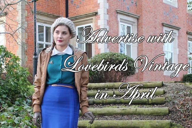 advertise in april with lovebirds vintage