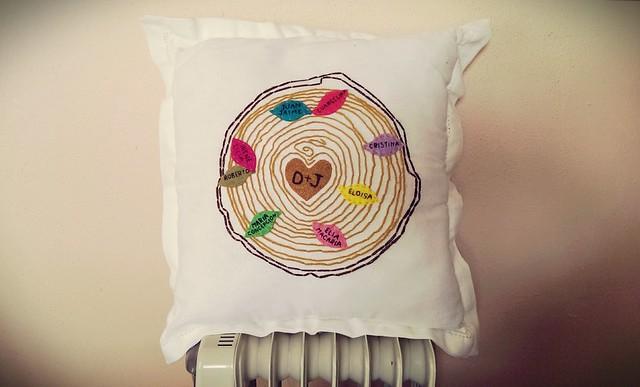 Family tree pillow