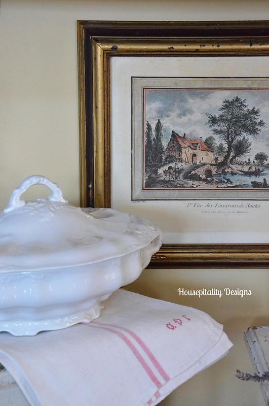 Vintage French Print/Ironstone-Housepitality Designs