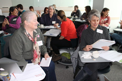 """Participants network at the fourth annual Women in Agriculture – Women, Farms & Food Conference. This year's theme was """"Put Your Best Foot Forward."""""""