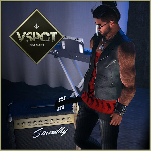 V-SPOT - Reckless Leather Vest