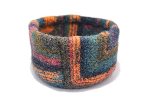 Felted Mitered Bowl