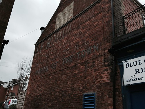 Ghost sign, 130 High Street, Rushden
