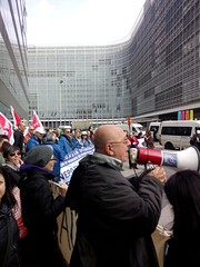 Protest for the Right2Water in Brussels