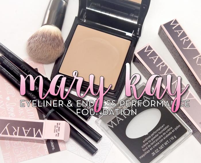 mary kay eyeliner and endless performance foundation