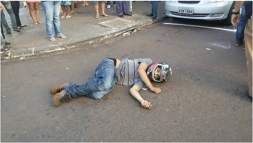 assaltante morto Maringá