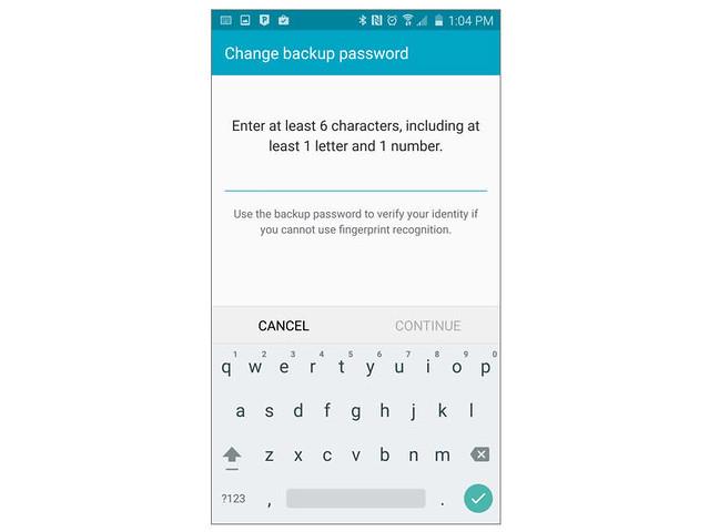 Mở khóa vân tay Galaxy S6, S6 Edge