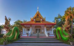 Wat Mongkolrata Temple with 2 Dragons - Tampa