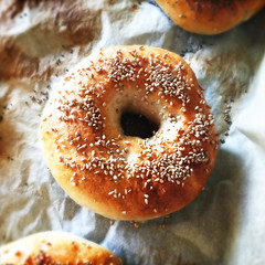 doughnut, baking, baked goods, food, dish, cuisine, snack food, bagel,