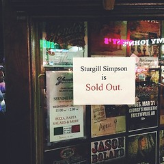 @jacobslaton texted me at lunch to see if I wanted his extra ticket to #sturgillsimpson's show. #DogtownLife road trip to Fayetteville.