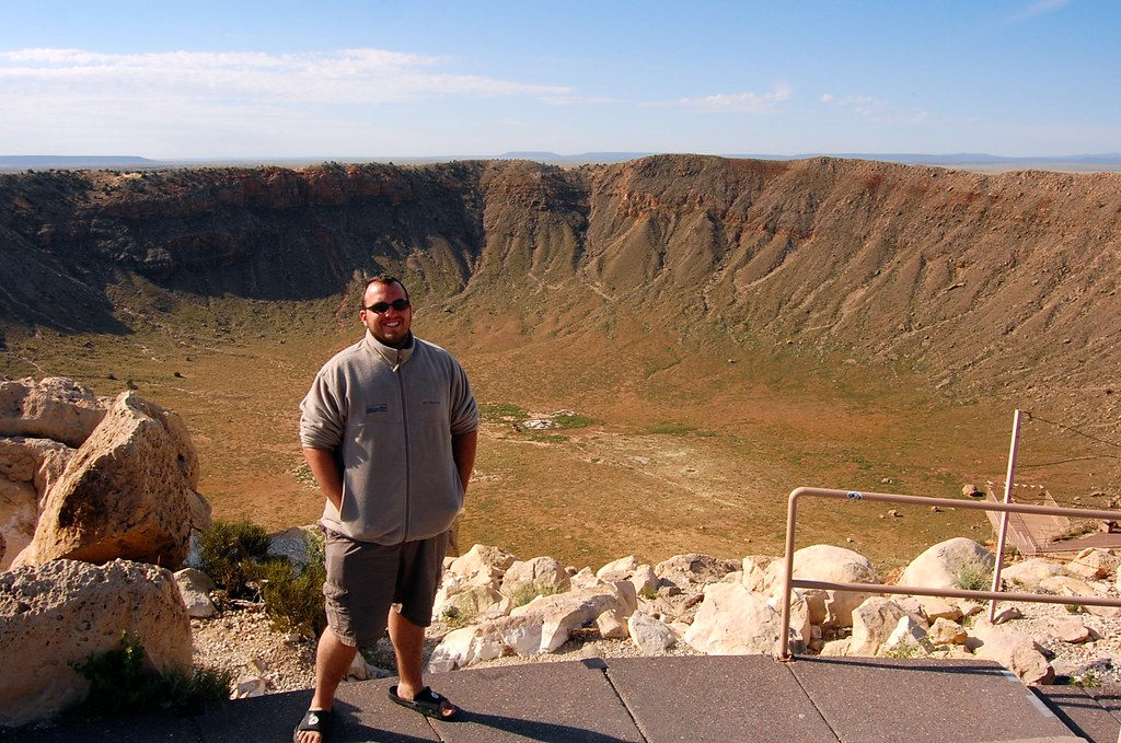 John at the Meteor Crater