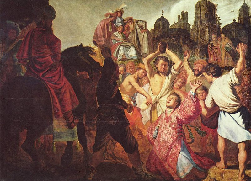 The Stoning of Saint Stephen by Rembrandt
