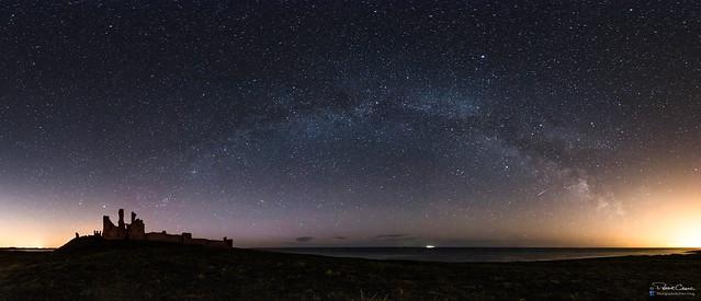 Dunstanburgh Castle Milky Way Pano