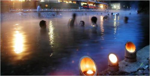 和歌山縣當地觀光協會的野溪溫泉宣傳照
