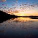 MI16-0677-5836 North Bar Sunset by Aubrieta V Hope Michigan Scenery by Aubrieta V. Hope