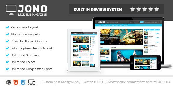 Jono 2.8 Responsive WordPress Magazine Theme