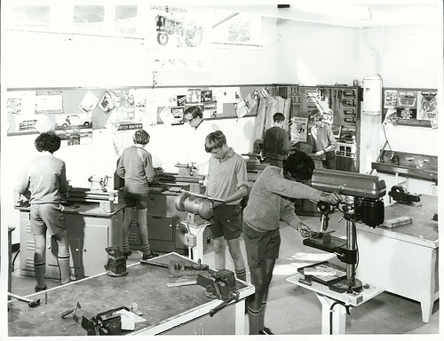 <p>Title:<br /> Schools - Secondary - Wellington<br /> <br /> Publicity Caption:<br /> Fourth form pupils at Porirua College using the latest equipment in the school's metalwork room.<br /> <br /> Photographer:<br /> R. Anderson (R24804325)<br /> <br /> February 1972, Wellington<br /> <br /> Reference: 24804325 AAQT 6539 W3537 121 / A99647</p>