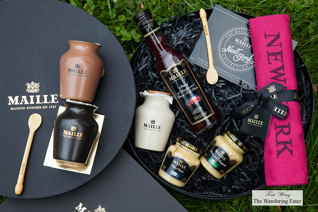 """Maille """"New York"""" collection and Black truffle cep and Chablis mustard and Black truffle & Chablis mustard"""