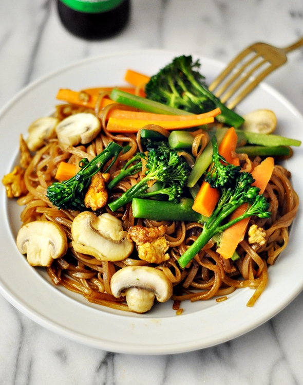 Broccolini & Mushroom Pad See Ew (A Meatless Recipe) - Fuss Free ...