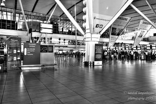 cape town airport interior - monochrome HDR