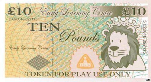 Play ten pound note