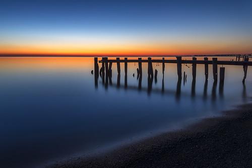 longexposure ontario silhouette sunrise pier blueribbonwinner fiftypoint