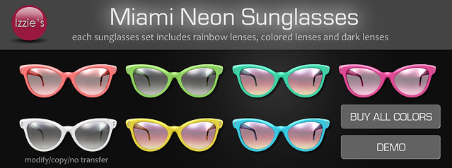 Miami Neon Sunglasses (for Uber)