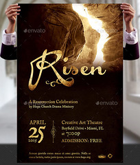 Risen Church Flyer and Poster Template