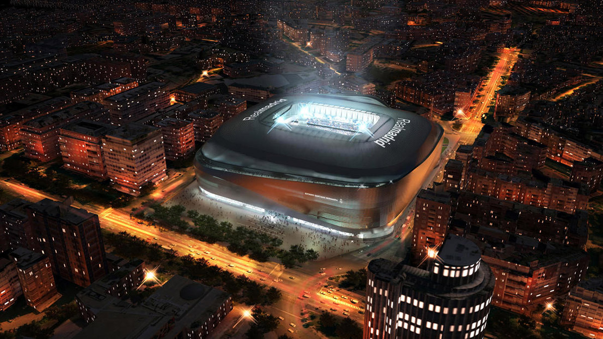 Modernization of the Estadio Santiago Bernabéu design by gmp architects