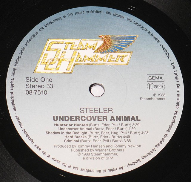 "STEELER UNDERCOVER ANIMAL 12"" Vinyl LP"