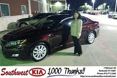 #HappyBirthday to Stacey Graham from James Adams at Southwest KIA Rockwall!