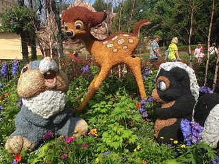 Bambi, Thumper and Flower Topiaries in Epcot