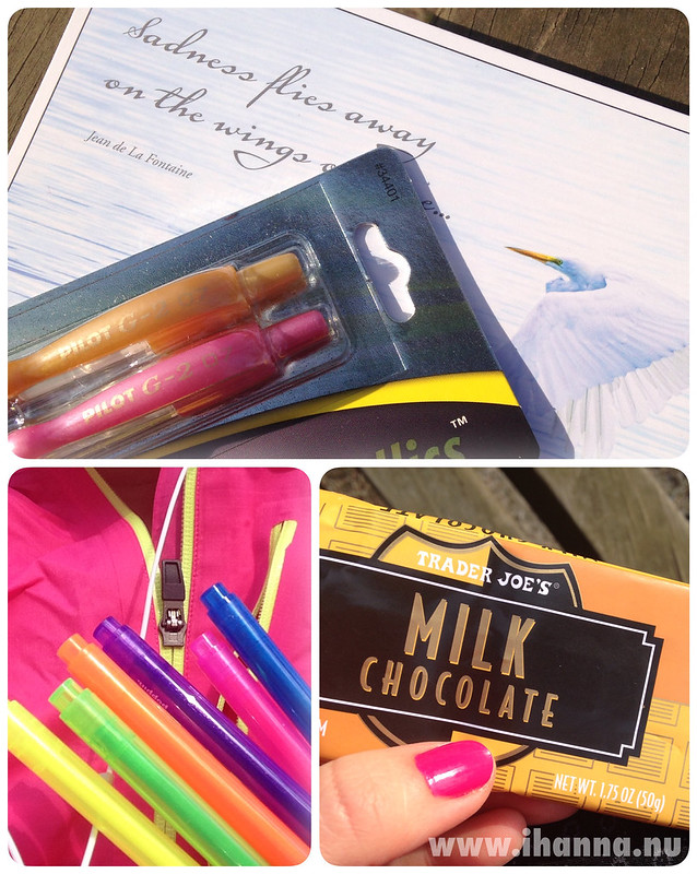 Pretty pens and chocolate