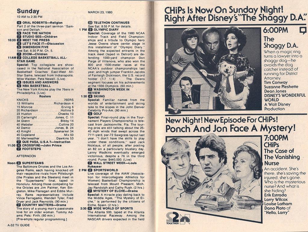 retrospace: tv guide #5: march 22-28, 1980