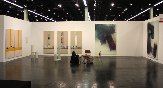 Samuel Francois and Max Frintrop at booth Berthold Pott, Cologne and jeanrochdard, Paris, Brussels