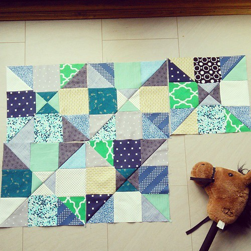 Five #siblingstogetherhsh blocks for @maryemmens  Hobby horse not included �� #siblingstogether