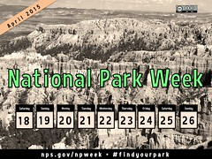 National Park Week in the USA, April 18-26 #FindYourPark @NatlParkService @IUCN_CEC @NatParksBlog @ParksTraveler @American_Latino