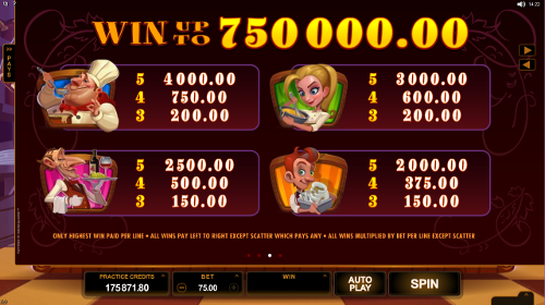 free Big Chef slot payout