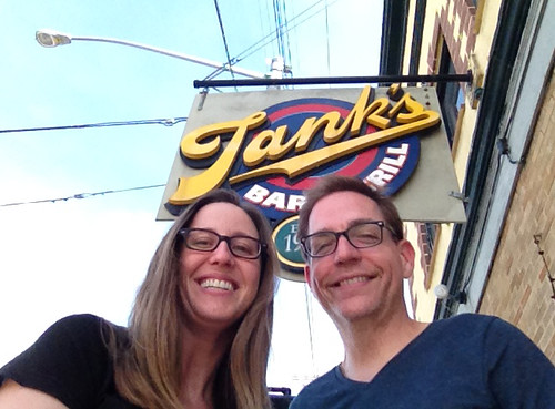 Woner Boy and I at Tank's Bar and Grill - photo taken with The Pole Selfie Stick.