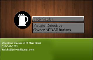 Business card Jacksadler