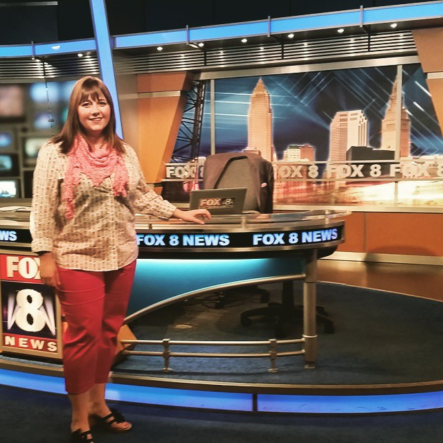 Had SO much fun this morning on @fox8news with @kristi_capel !  Thanks for having me!  #cleveland #cle #clevelandgram #lifeincleveland #stevensonpartyoffive
