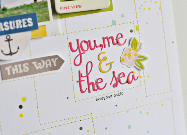 you, me & the sea closeup