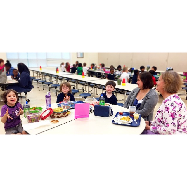 Killian had 5(!) visitors at lunch today. I think Mick and JJ enjoyed visiting their future school.