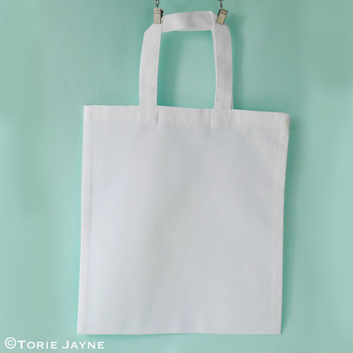 White fabric kids bag