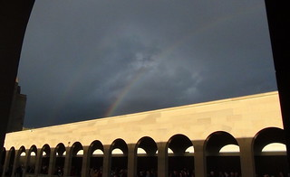 Rainbow over the AWM Anzac Day