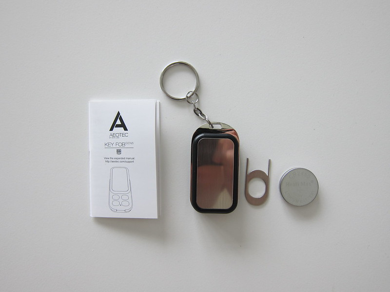 Aeon Labs Aeotec Z-Wave Key Fob Remote - Box Contents