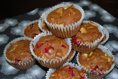 Cranberry & apple muffins