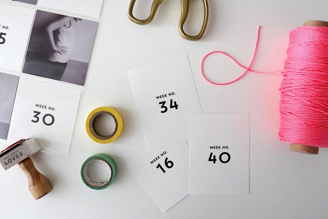 printable, weekly calendars for memory keeping (aka time savers)