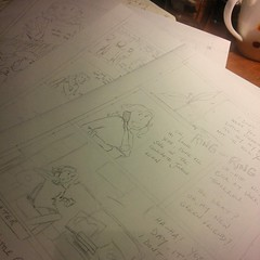 3/6 pages pencilled. Enough for tonight.
